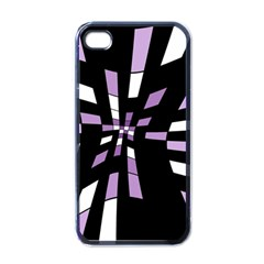 Purple Abstraction Apple Iphone 4 Case (black) by Valentinaart