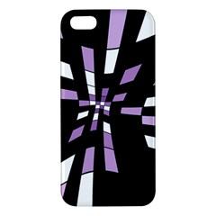 Purple Abstraction Apple Iphone 5 Premium Hardshell Case by Valentinaart