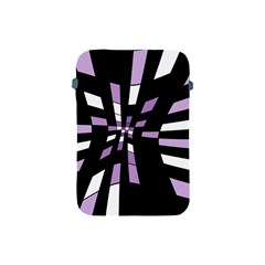Purple Abstraction Apple Ipad Mini Protective Soft Cases by Valentinaart