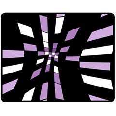 Purple Abstraction Double Sided Fleece Blanket (medium)  by Valentinaart