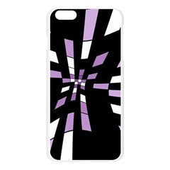 Purple abstraction Apple Seamless iPhone 6 Plus/6S Plus Case (Transparent) by Valentinaart