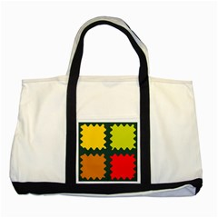 4 Shapes                                                                                 two Tone Tote Bag by LalyLauraFLM