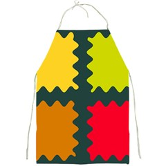 4 Shapes                                                                                 full Print Apron by LalyLauraFLM