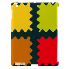 4 shapes                                                                                 			Apple iPad 3/4 Hardshell Case (Compatible with Smart Cover) by LalyLauraFLM