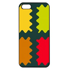 4 Shapes                                                                                 			apple Iphone 5 Seamless Case (black) by LalyLauraFLM