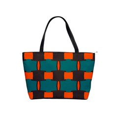 3 Colors Shapes Pattern                                                                                  Classic Shoulder Handbag by LalyLauraFLM