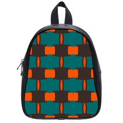 3 Colors Shapes Pattern                                                                                  			school Bag (small) by LalyLauraFLM
