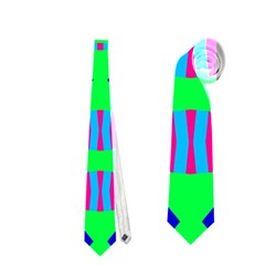 Rhombus And Stripes                                                                                   Necktie by LalyLauraFLM