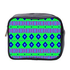 Rhombus And Stripes                                                                                   Mini Toiletries Bag (two Sides) by LalyLauraFLM
