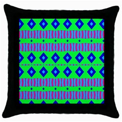 Rhombus And Stripes                                                                                   			throw Pillow Case (black) by LalyLauraFLM