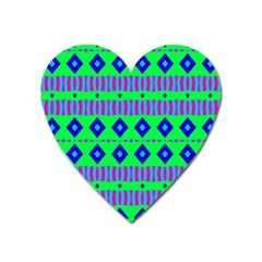 Rhombus And Stripes                                                                                   			magnet (heart) by LalyLauraFLM