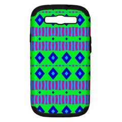 Rhombus And Stripes                                                                                   samsung Galaxy S Iii Hardshell Case (pc+silicone) by LalyLauraFLM