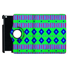 Rhombus And Stripes                                                                                   			apple Ipad 2 Flip 360 Case by LalyLauraFLM
