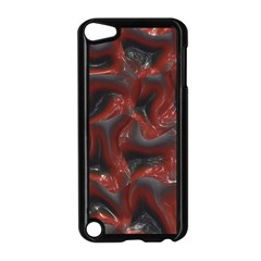 Red Grey 3d Design                                                                                    			apple Ipod Touch 5 Case (black) by LalyLauraFLM