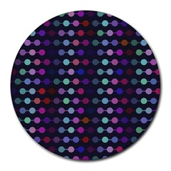 Connected Dots                                                                                     round Mousepad by LalyLauraFLM