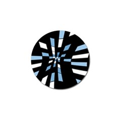 Blue Abstraction Golf Ball Marker (10 Pack) by Valentinaart
