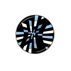 Blue Abstraction Hat Clip Ball Marker by Valentinaart