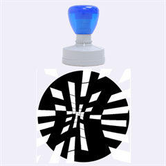 Blue Abstraction Rubber Round Stamps (large) by Valentinaart