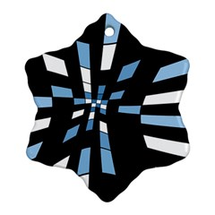 Blue Abstraction Ornament (snowflake)  by Valentinaart