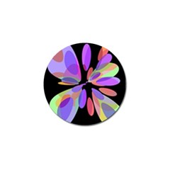 Colorful Abstract Flower Golf Ball Marker by Valentinaart