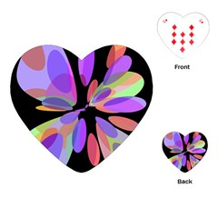 Colorful Abstract Flower Playing Cards (heart)  by Valentinaart