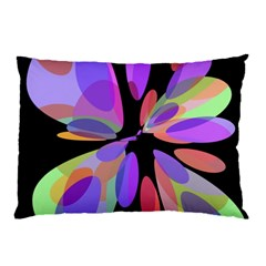 Colorful Abstract Flower Pillow Case by Valentinaart