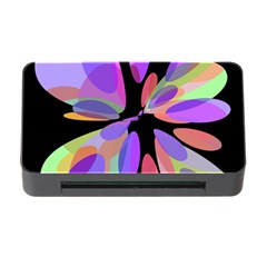 Colorful Abstract Flower Memory Card Reader With Cf by Valentinaart