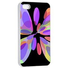 Colorful Abstract Flower Apple Iphone 4/4s Seamless Case (white) by Valentinaart