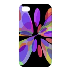 Colorful Abstract Flower Apple Iphone 4/4s Hardshell Case by Valentinaart