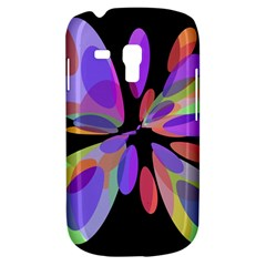 Colorful Abstract Flower Samsung Galaxy S3 Mini I8190 Hardshell Case by Valentinaart