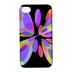 Colorful Abstract Flower Apple Iphone 4/4s Hardshell Case With Stand by Valentinaart
