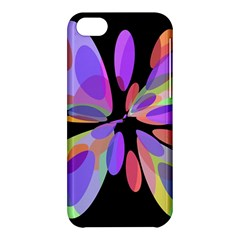 Colorful Abstract Flower Apple Iphone 5c Hardshell Case by Valentinaart