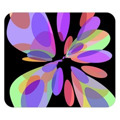 Colorful Abstract Flower Double Sided Flano Blanket (small)  by Valentinaart