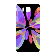 Colorful Abstract Flower Samsung Galaxy Alpha Hardshell Back Case by Valentinaart
