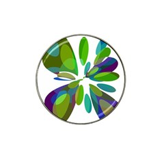 Green Abstract Flower Hat Clip Ball Marker by Valentinaart