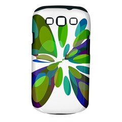 Green Abstract Flower Samsung Galaxy S Iii Classic Hardshell Case (pc+silicone) by Valentinaart