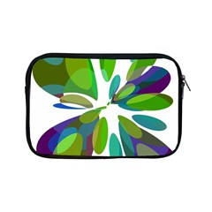 Green Abstract Flower Apple Ipad Mini Zipper Cases by Valentinaart