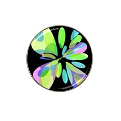 Green Abstract Flower Hat Clip Ball Marker (10 Pack) by Valentinaart