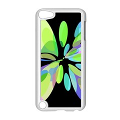 Green Abstract Flower Apple Ipod Touch 5 Case (white) by Valentinaart