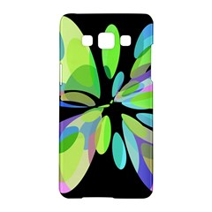 Green Abstract Flower Samsung Galaxy A5 Hardshell Case  by Valentinaart