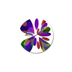 Colorful Abstract Flower Golf Ball Marker (4 Pack) by Valentinaart