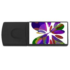 Colorful Abstract Flower Usb Flash Drive Rectangular (4 Gb)  by Valentinaart