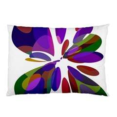 Colorful Abstract Flower Pillow Case (two Sides) by Valentinaart
