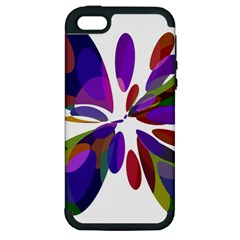 Colorful Abstract Flower Apple Iphone 5 Hardshell Case (pc+silicone) by Valentinaart