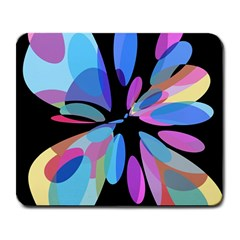 Blue Abstract Flower Large Mousepads by Valentinaart