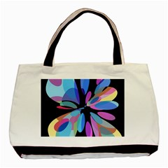 Blue Abstract Flower Basic Tote Bag (two Sides)