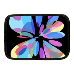 Blue Abstract Flower Netbook Case (medium)  by Valentinaart