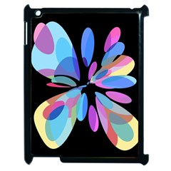 Blue Abstract Flower Apple Ipad 2 Case (black) by Valentinaart