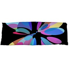 Blue Abstract Flower Body Pillow Case (dakimakura) by Valentinaart