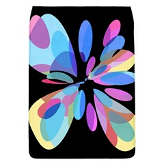 Blue Abstract Flower Flap Covers (l)  by Valentinaart